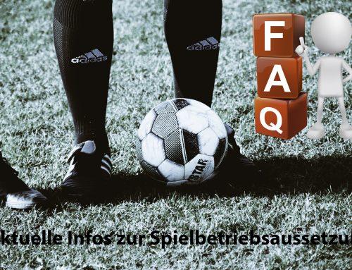 ** UPDATE** FAQ und Hinweise zur Aussetzung des Spiel- und Trainingsbetriebs