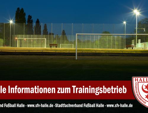 In Sachen Trainingsbetrieb: SFV Halle in letzten Absprachen mit der Stadt