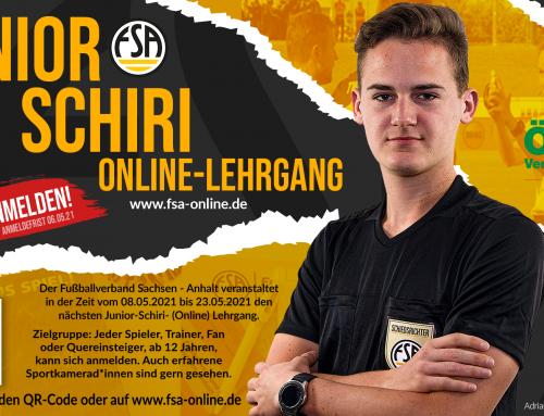FSA Junior Schiri (Online) Lehrgang – Werde Schiedsrichter*in