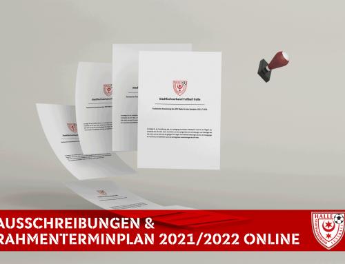 Ausschreibungen und Rahmenterminplan Nachwuchs 2021/2022 ONLINE !